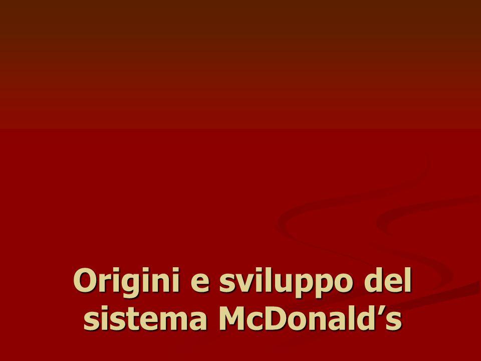 Origini e sviluppo del sistema McDonald's