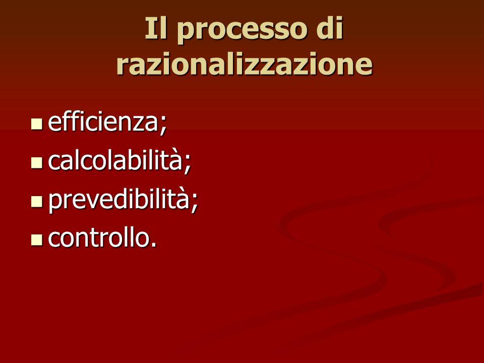 Il processo di razionalizzazione