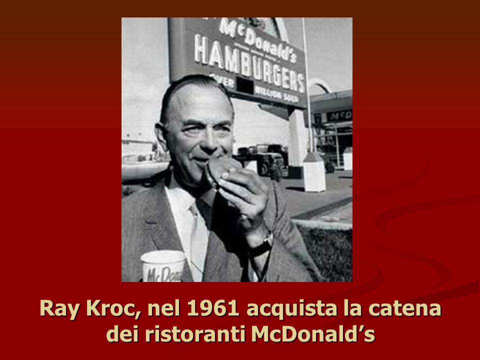 Ray Kroc, nel 1961 acquista la catena dei ristoranti McDonald's