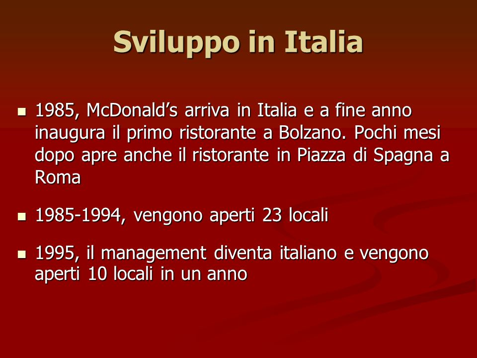 Sviluppo in Italia