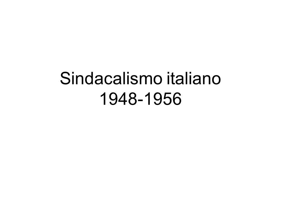 Sindacalismo italiano 1948-1956