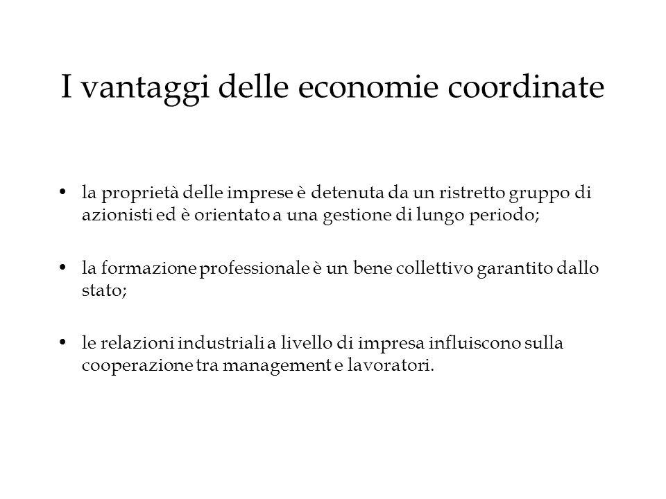 I vantaggi delle economie coordinate