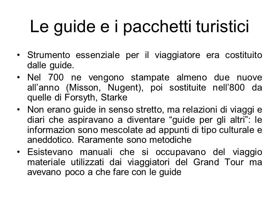 Le guide e i pacchetti turistici