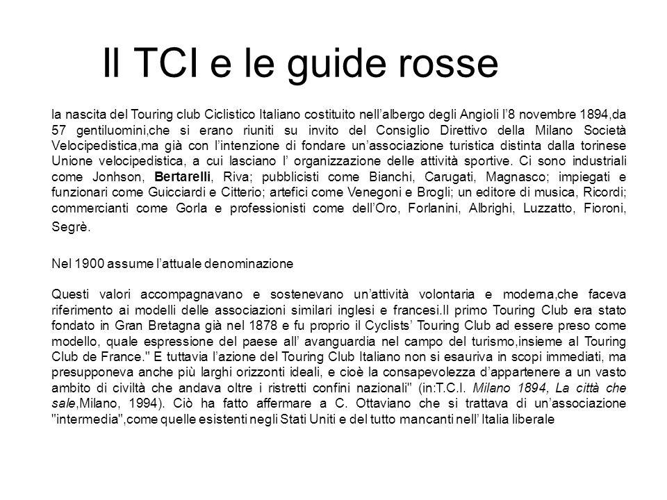 Il TCI e le guide rosse