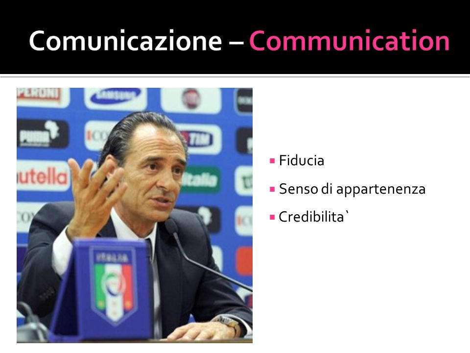 Comunicazione – Communication
