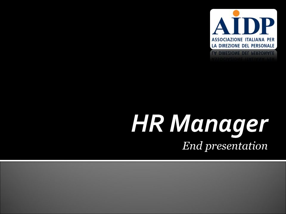 HR Manager End presentation 17