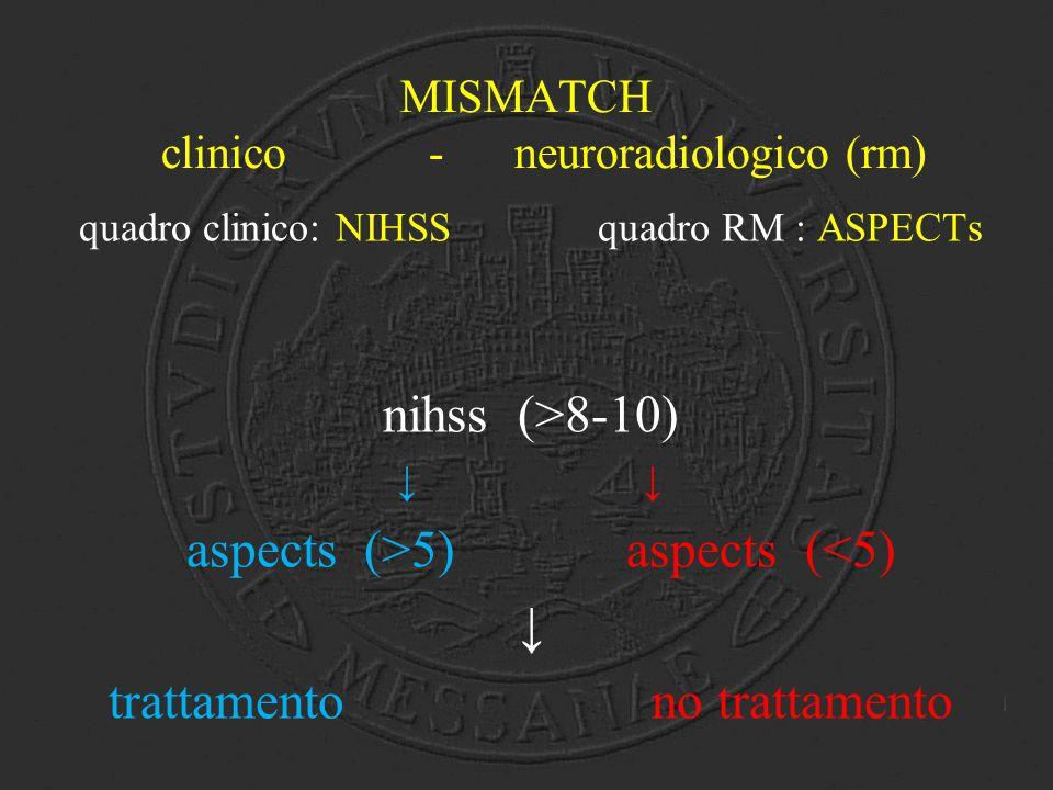 MISMATCH clinico - neuroradiologico (rm)