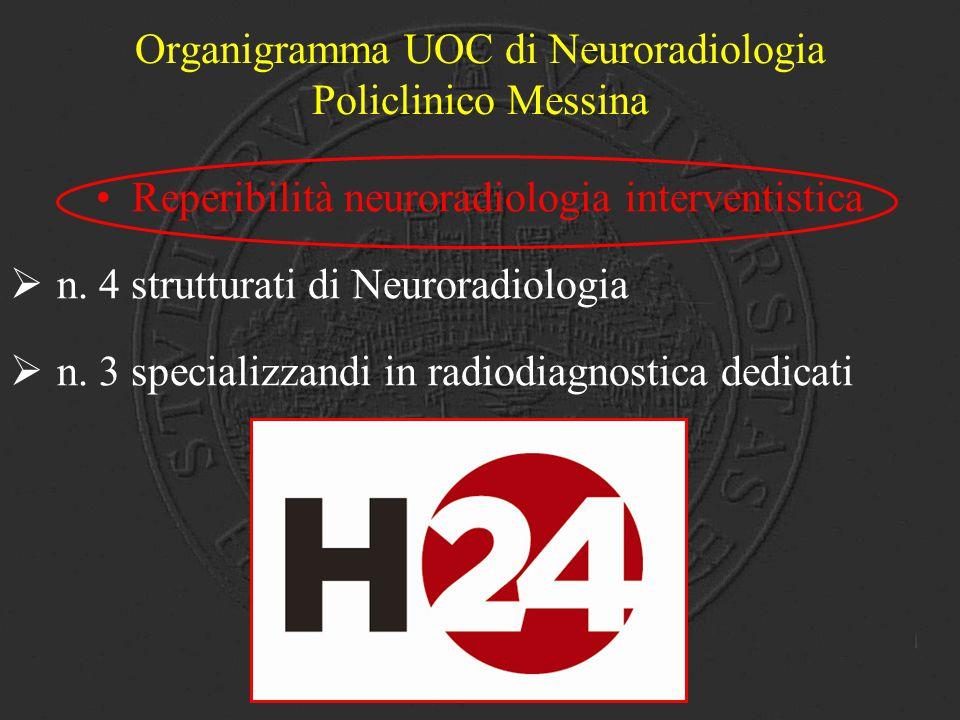 Organigramma UOC di Neuroradiologia Policlinico Messina