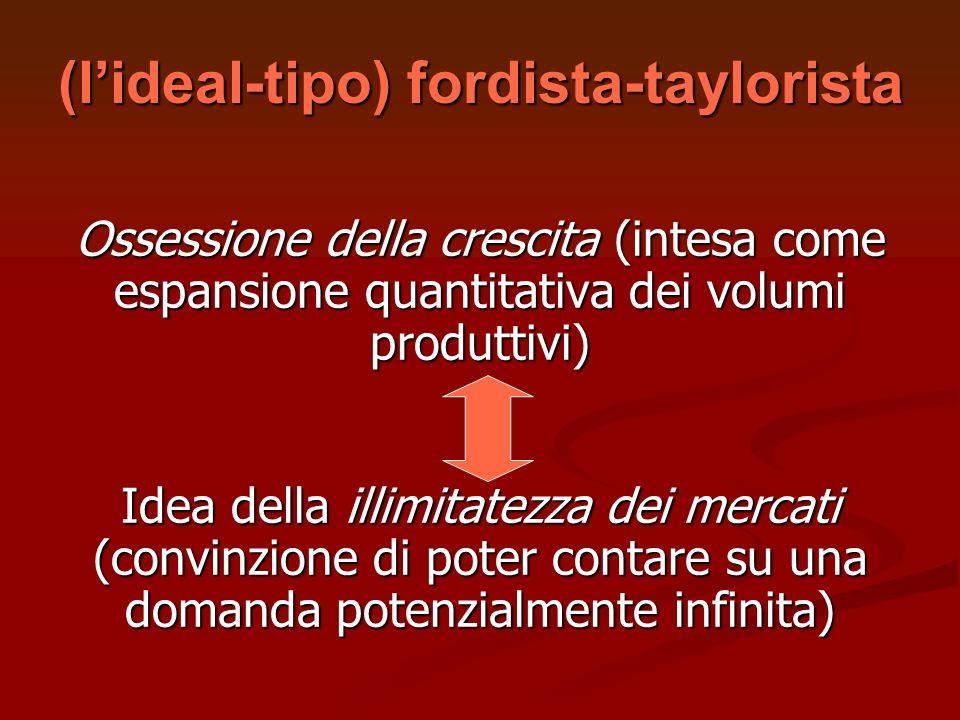 (l'ideal-tipo) fordista-taylorista