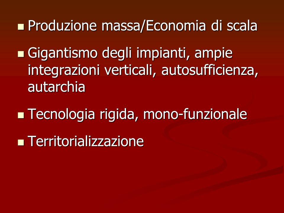 Produzione massa/Economia di scala
