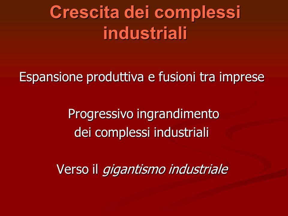 Crescita dei complessi industriali