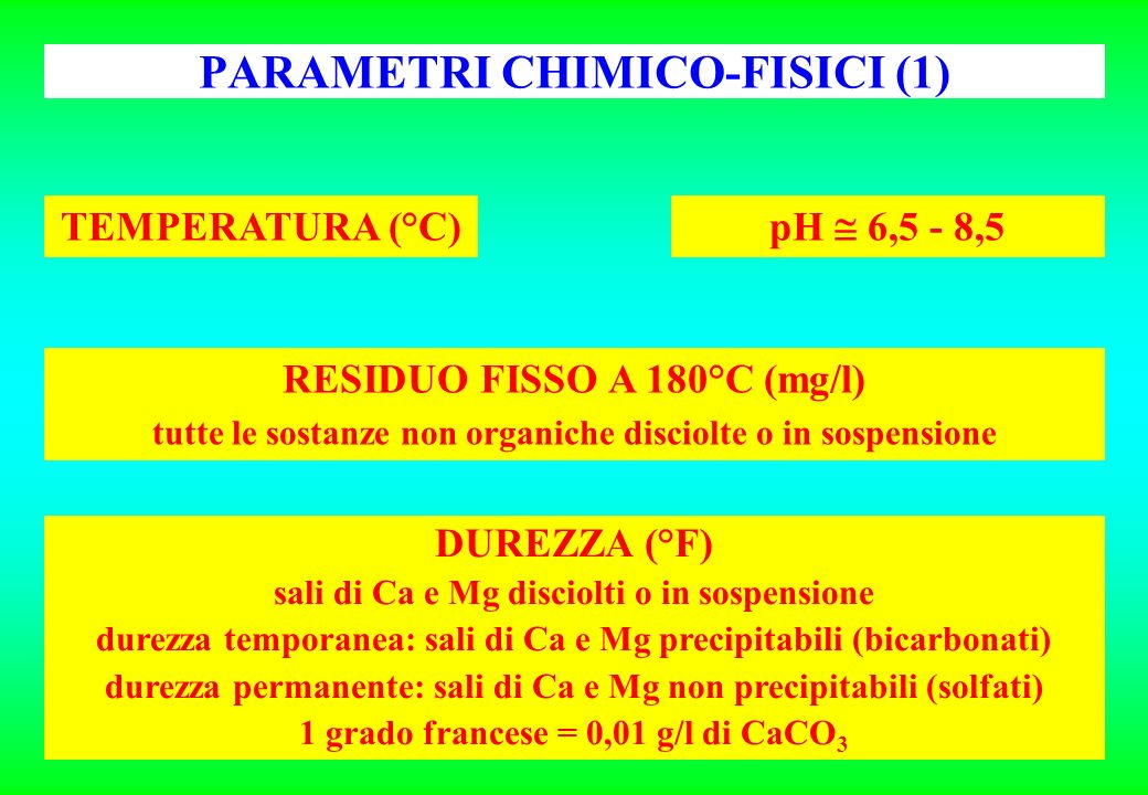 PARAMETRI CHIMICO-FISICI (1)