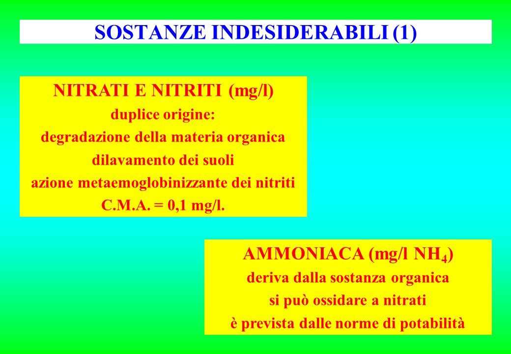 SOSTANZE INDESIDERABILI (1)