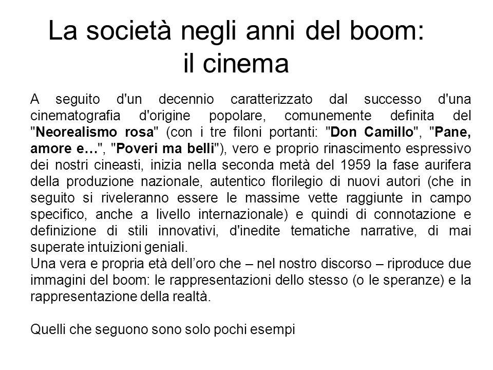 La società negli anni del boom: il cinema