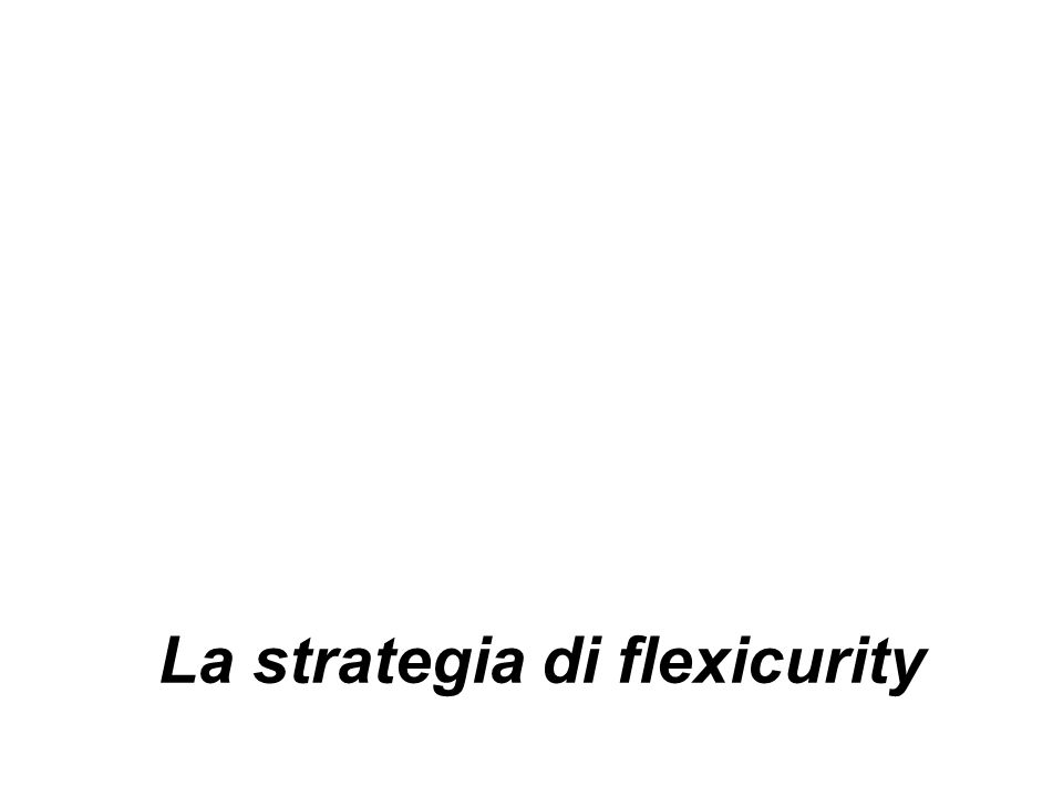 La strategia di flexicurity