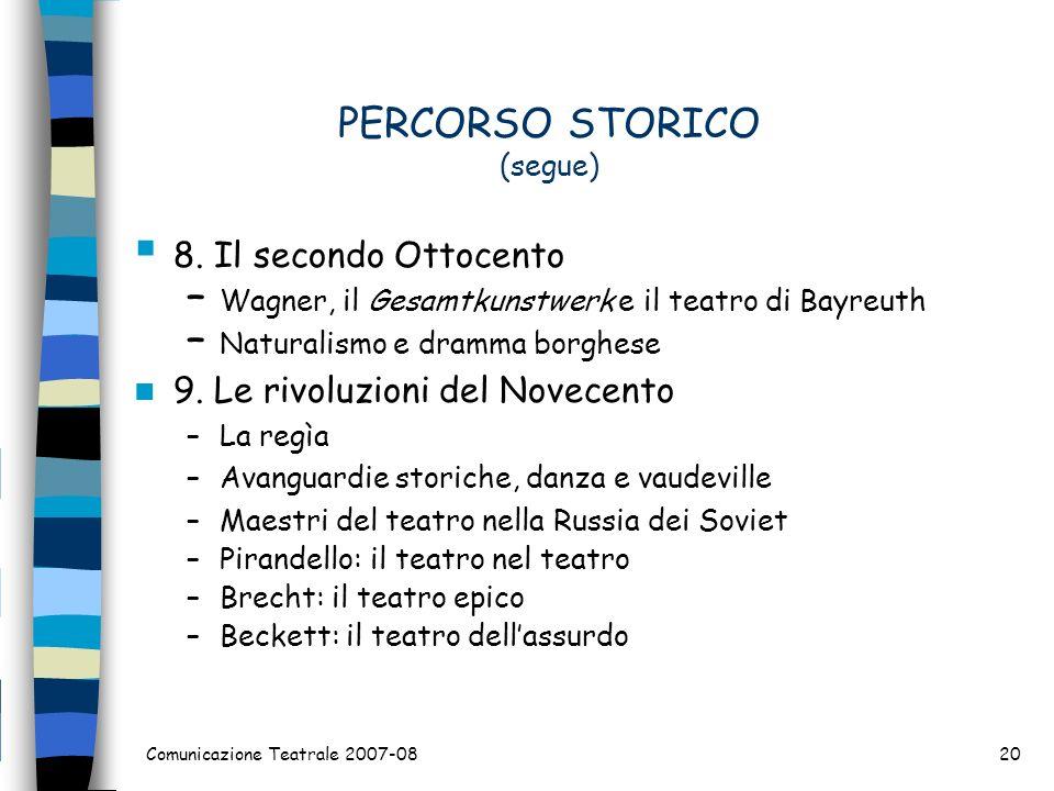 PERCORSO STORICO (segue)