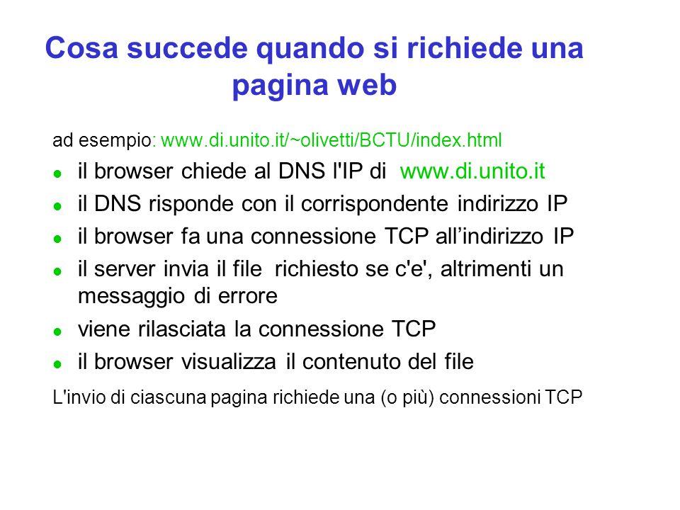 Cosa succede quando si richiede una pagina web