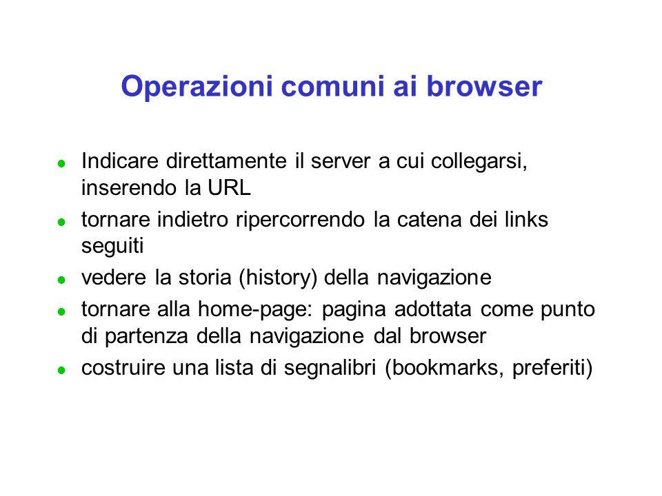 Operazioni comuni ai browser