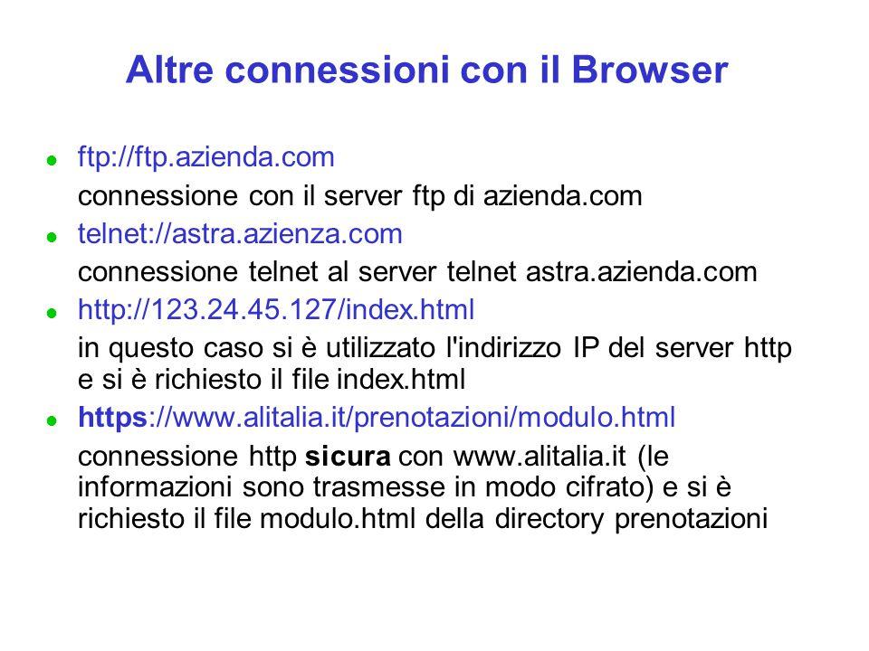 Altre connessioni con il Browser