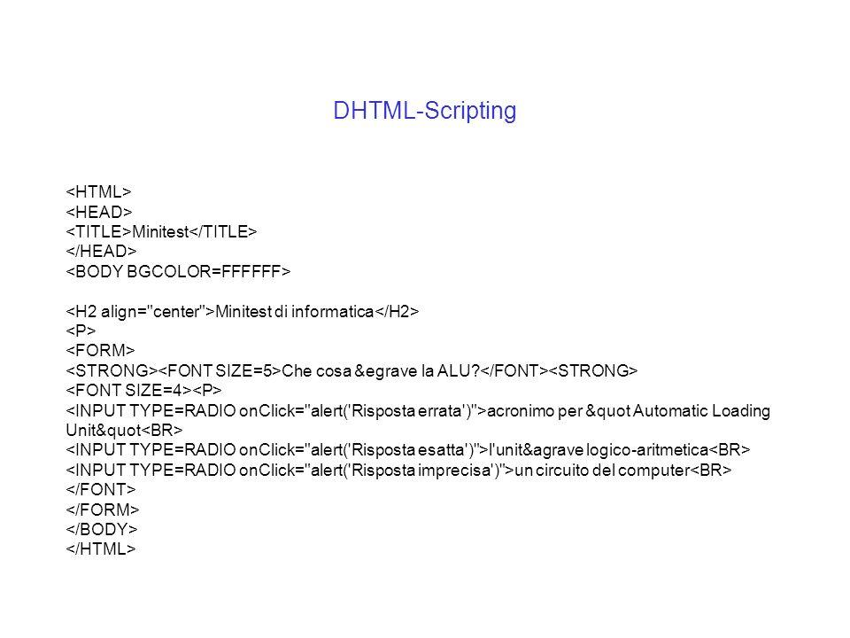 DHTML-Scripting <HTML> <HEAD>
