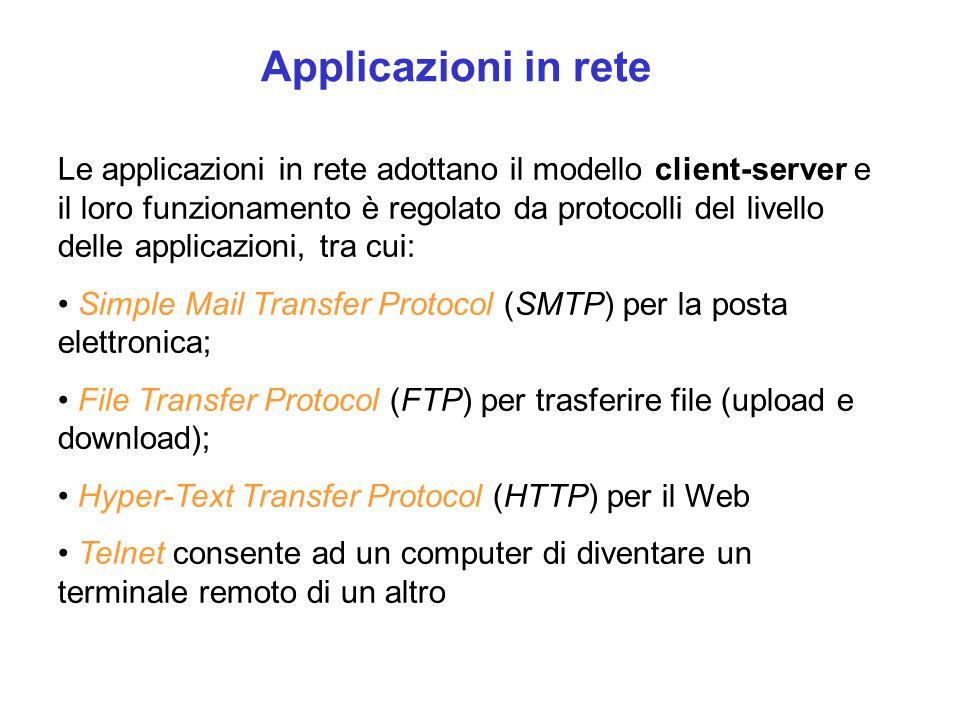 Applicazioni in rete
