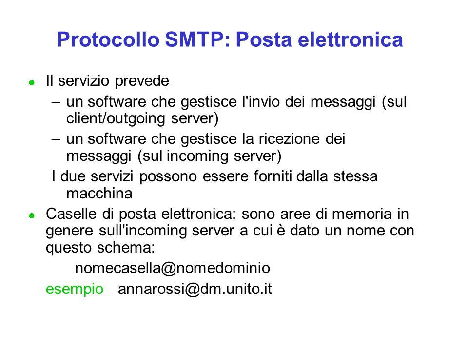 Protocollo SMTP: Posta elettronica
