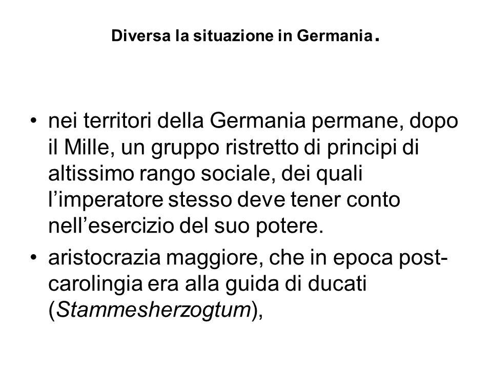 Diversa la situazione in Germania.
