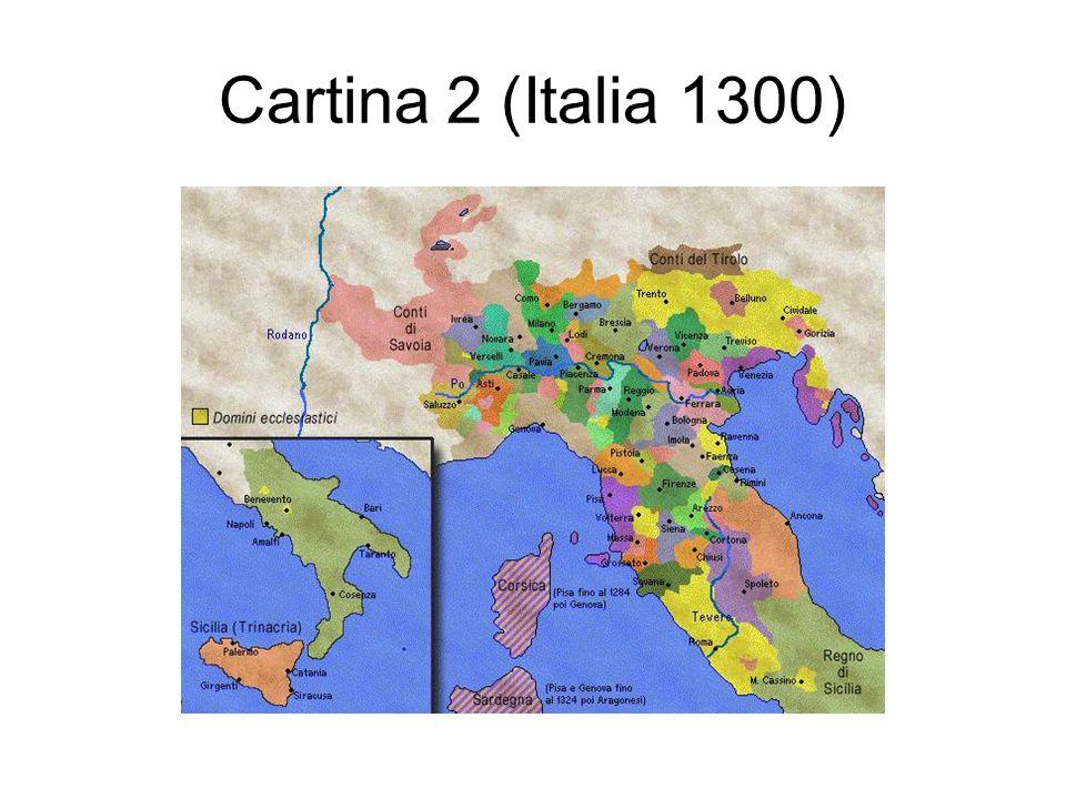 Cartina 2 (Italia 1300)
