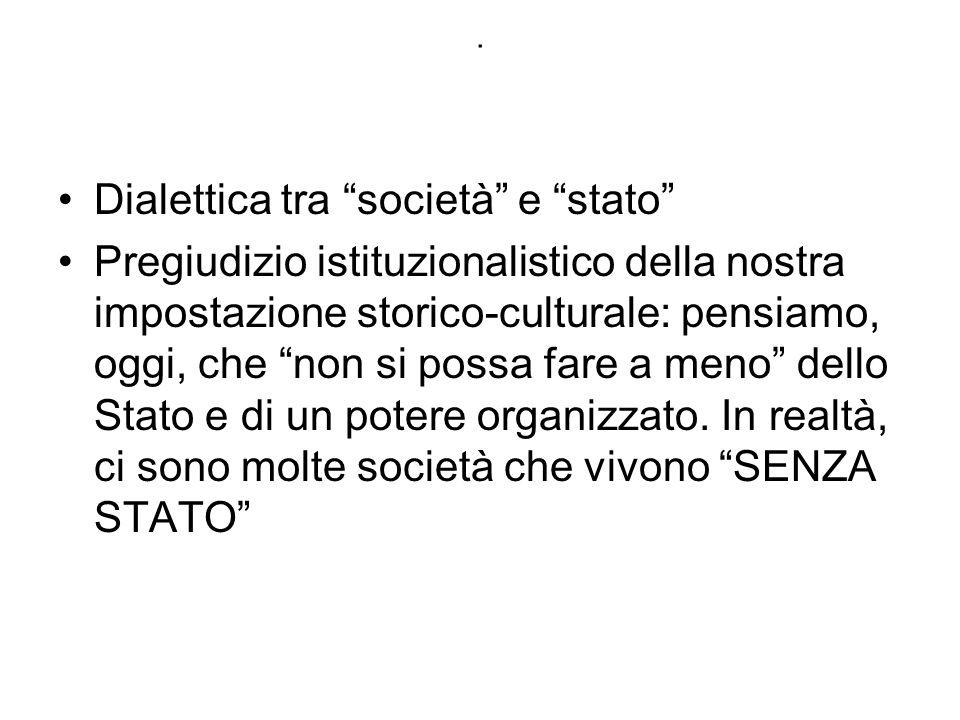 Dialettica tra società e stato