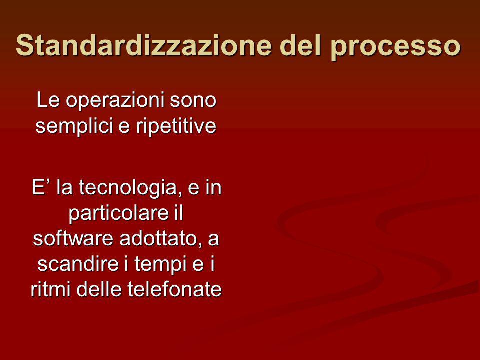 Standardizzazione del processo