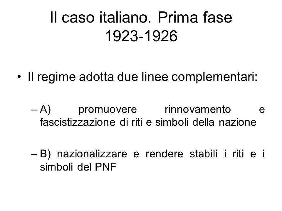 Il caso italiano. Prima fase 1923-1926