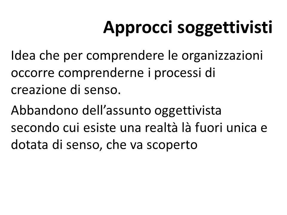 Approcci soggettivisti