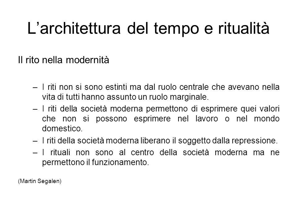 L'architettura del tempo e ritualità