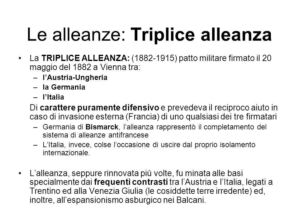 Le alleanze: Triplice alleanza