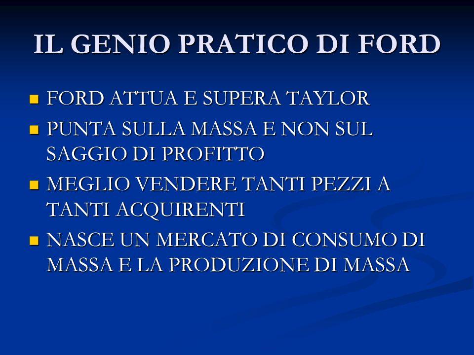IL GENIO PRATICO DI FORD