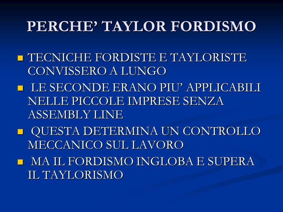 PERCHE' TAYLOR FORDISMO