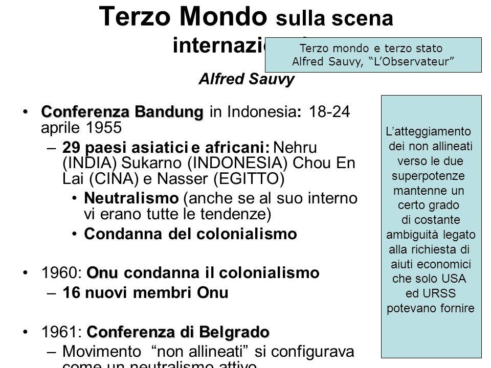 Terzo Mondo sulla scena internazionale Alfred Sauvy