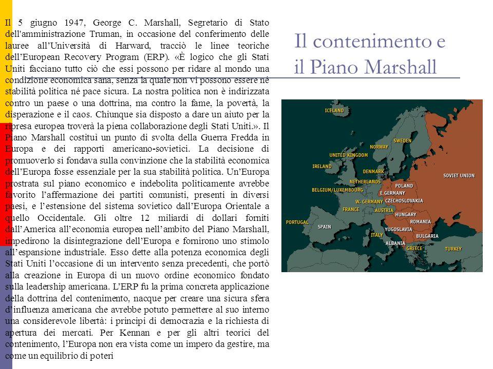 Il contenimento e il Piano Marshall