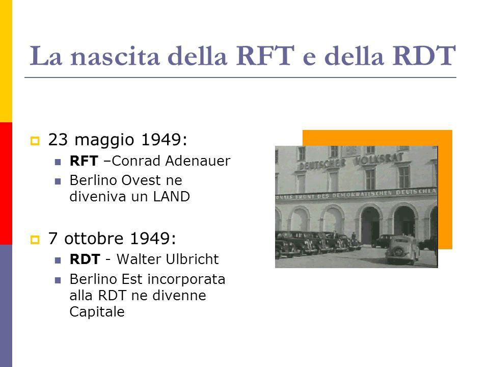 La nascita della RFT e della RDT