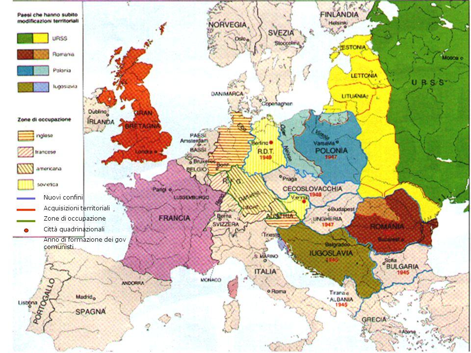 6 Nuovi confini Acquisizioni territoriali Zone di occupazione
