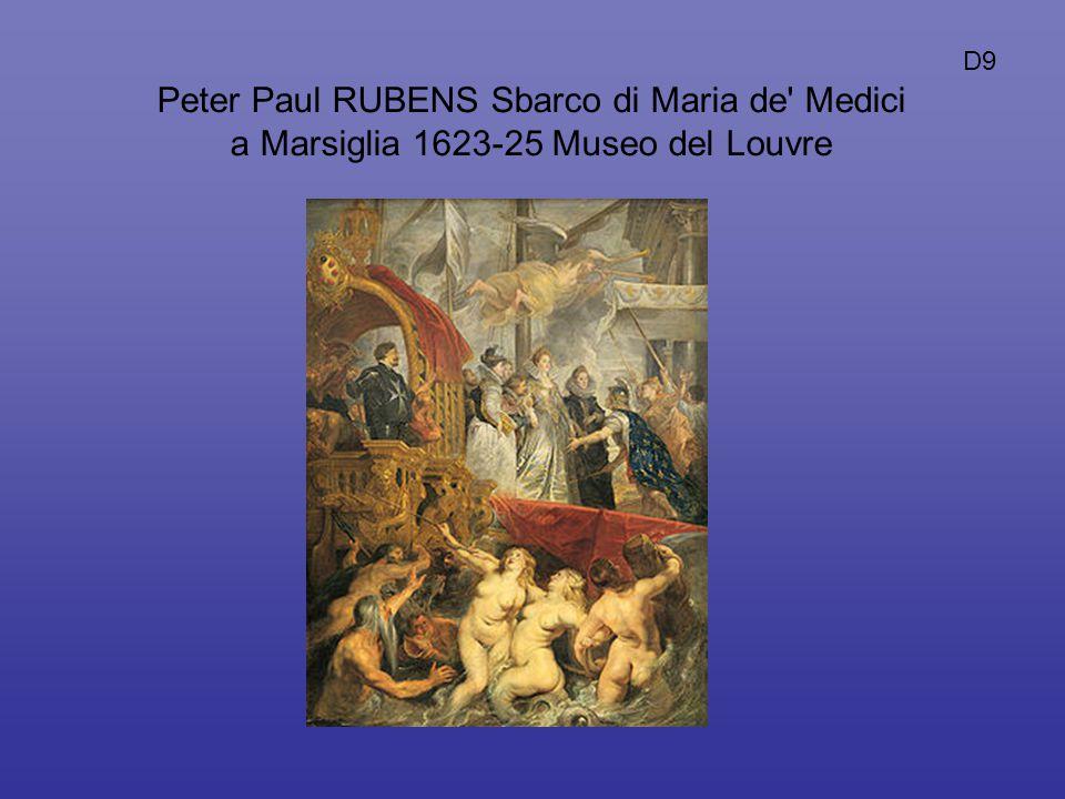 D9 Peter Paul RUBENS Sbarco di Maria de Medici a Marsiglia 1623-25 Museo del Louvre