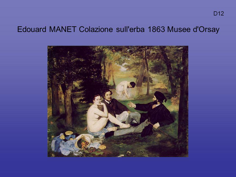 Edouard MANET Colazione sull erba 1863 Musee d Orsay