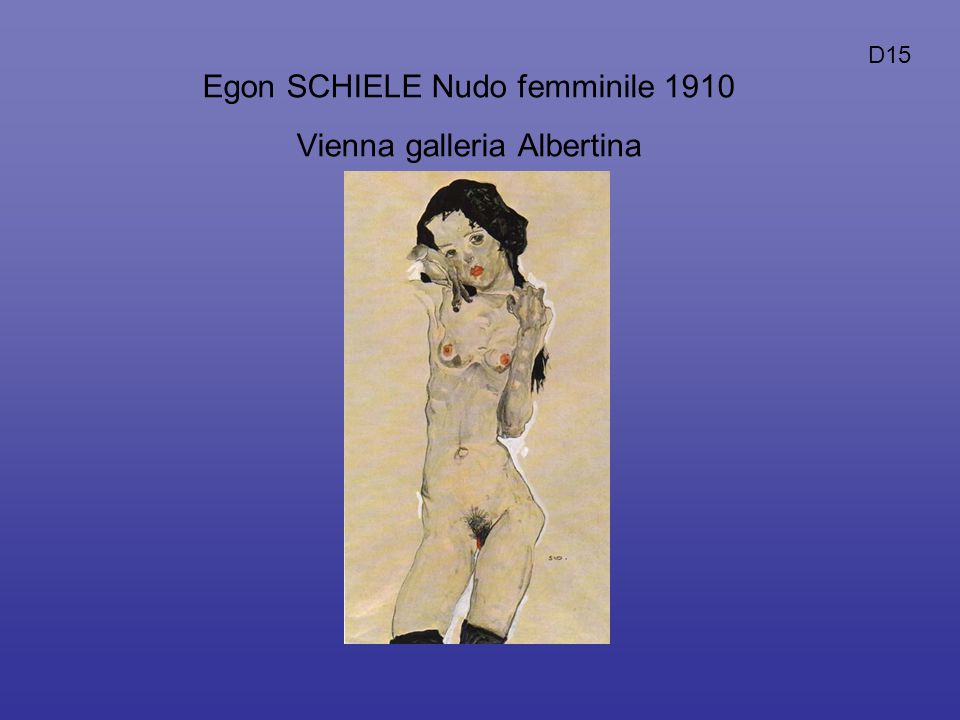 Egon SCHIELE Nudo femminile 1910 Vienna galleria Albertina