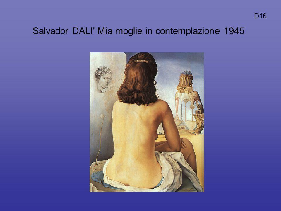Salvador DALI Mia moglie in contemplazione 1945