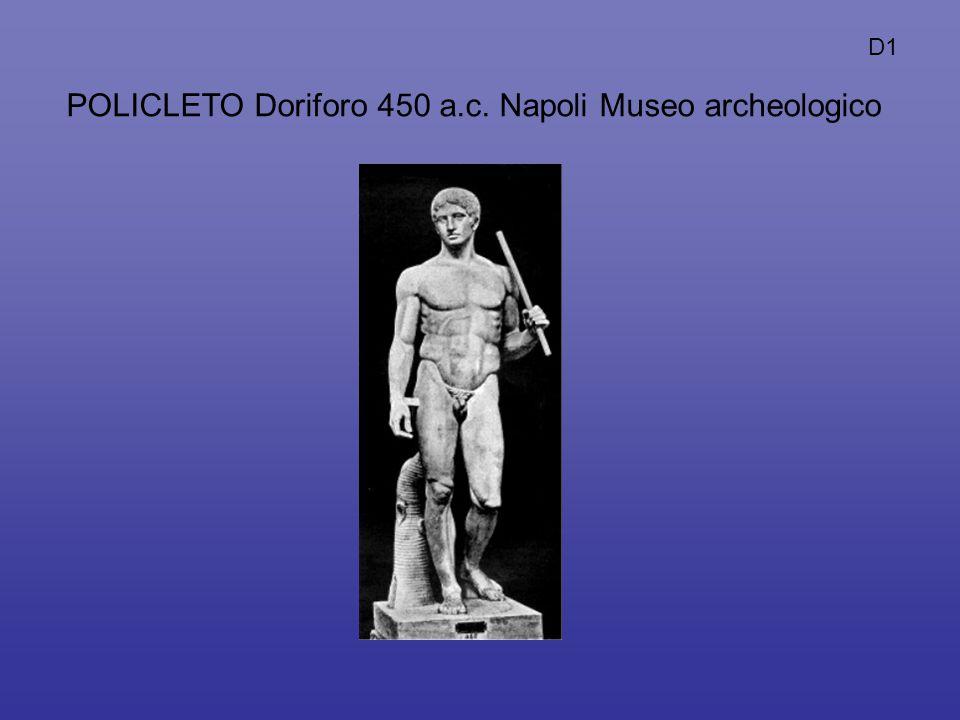 POLICLETO Doriforo 450 a.c. Napoli Museo archeologico