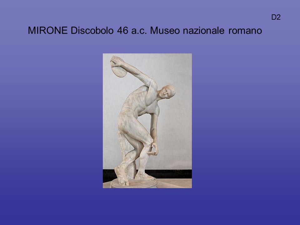 MIRONE Discobolo 46 a.c. Museo nazionale romano