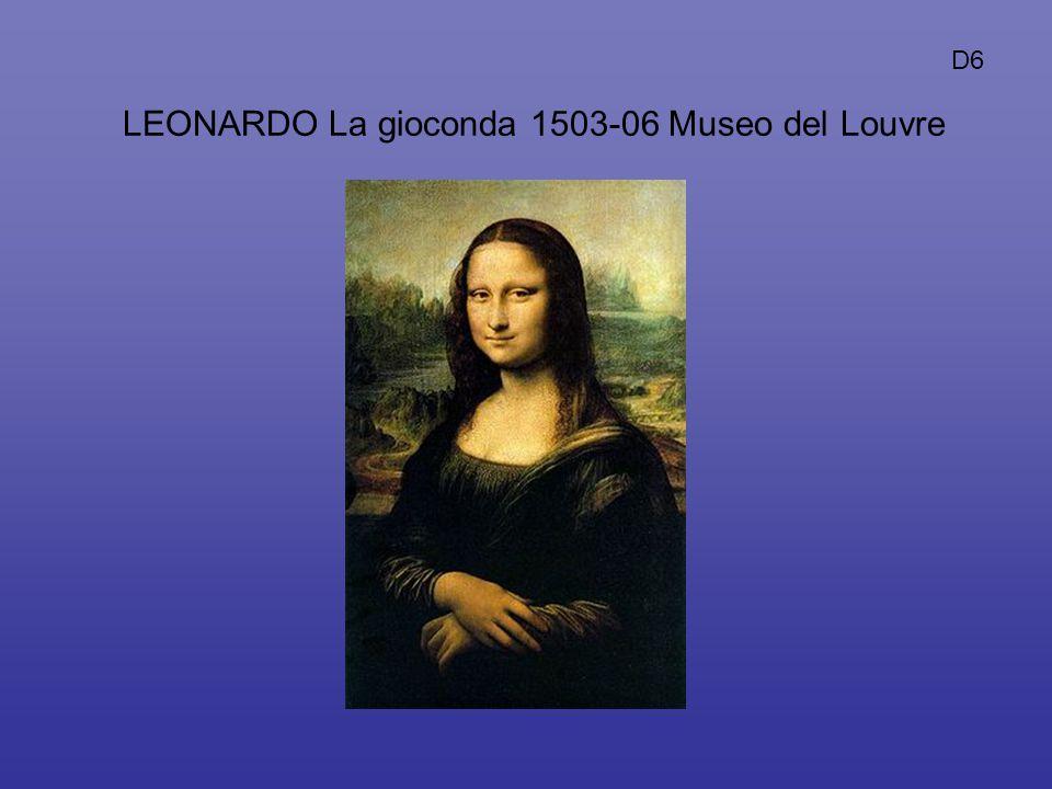 LEONARDO La gioconda 1503-06 Museo del Louvre