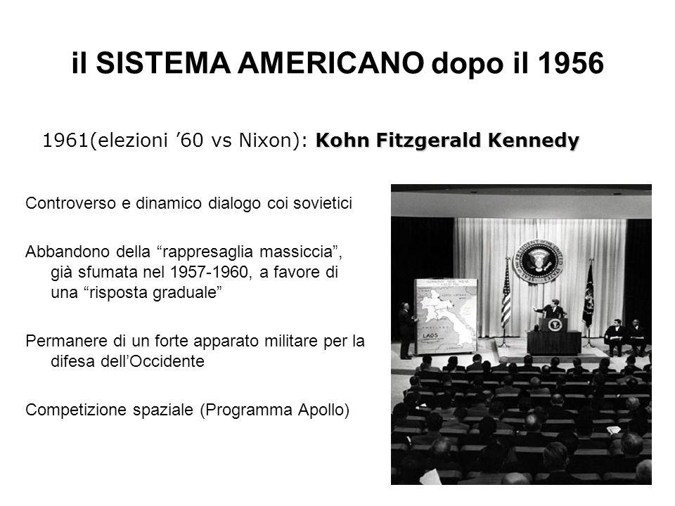 il SISTEMA AMERICANO dopo il 1956
