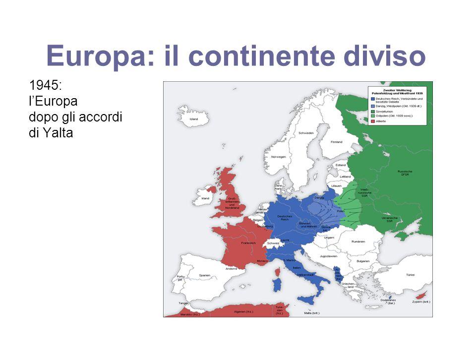 Europa: il continente diviso