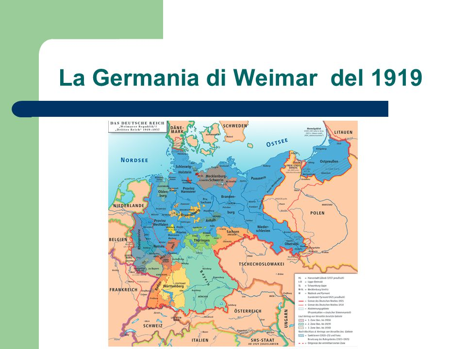 La Germania di Weimar del 1919